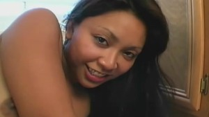 Asian cutie fucked from behind and cum on her pussy