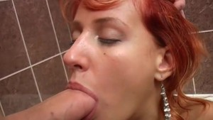 Blow Job and fuck in the bathroom