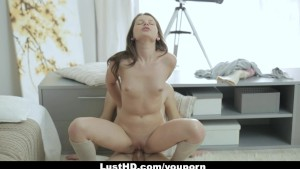 LustHD - Horny Russian Teen Gets An Anal Creampie!