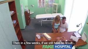 FakeHospital Boyfriend fucks his girlfriend while the doctor gives advice
