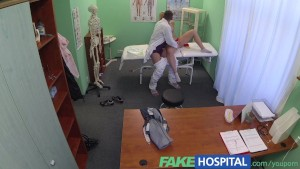 FakeHospital Successful consultation as hot blonde moans her way through doctors cock treatment