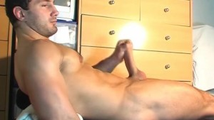 Testing his cock: Enric get shaked his huge cock by a guy !