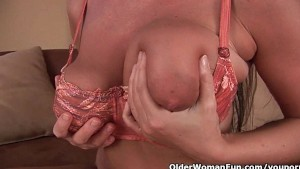 Mom s big tits and wet pussy could use a little self loving