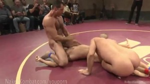 Live Muscled Hunks Wrestling Match