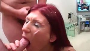 Bukkake party facials for sexy Anastasia