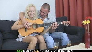 Czech blonde is lured into sex with BF s bro