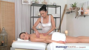 Massage Rooms Gorgeous masseuse explores the body of a sexy lesbian beauty