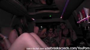 chubby slut trying to give me a hand job in my limo while other bitches jelous
