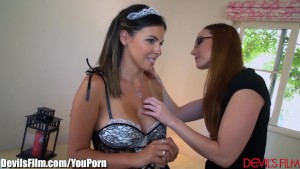 Lesbian Maid Danica Dillion Seduced by Bosses Wife