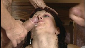Double penetration with chimney sweep