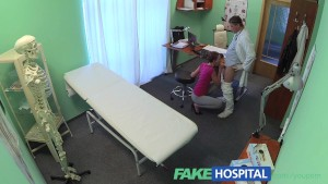FakeHospital Short haired hottie has no insurance but has a very tight pussy