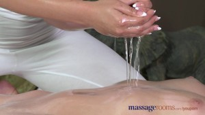 Massage Rooms Blonde teen lesbians enjoy hardcore G-Spot orgasms