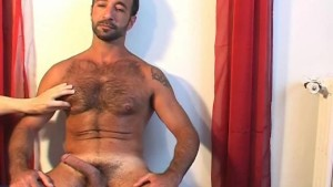 Handsome arab gym trainer serviced his big cock by us!