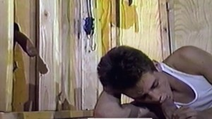 Young Stud Sucks Cocks Through Construction Site Gloryholes - 2x10 (1986)