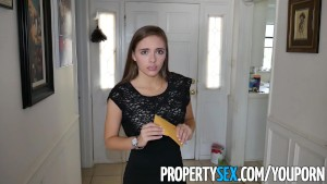 PropertySex - Hot young petite real estate agent homemade sex video