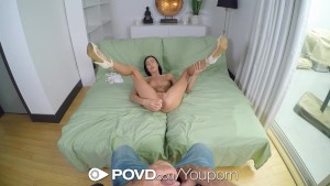 POVD - Hot Marley Brinx takes big dildo in pov