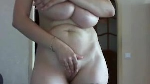 Russian girl from girlcams.xyz playing with her HUGE TITS