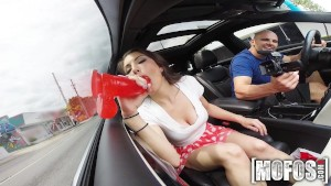 Mofos - Dirty Teen has some fun in the car