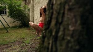 Brunette Charlotta is maturbating outdoors - be the Voyeur