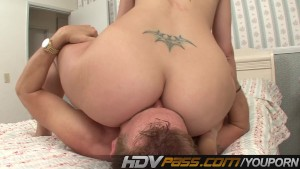 Ava Rose Licked And Doing Reverse Cowgirl