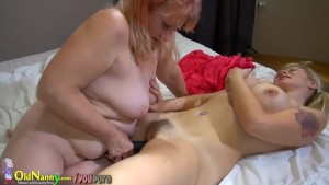 Oldnanny - Blonde women, big boobs and big dildos