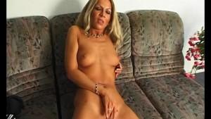 Mature blonde babe teases and masturbates - Julia Reaves
