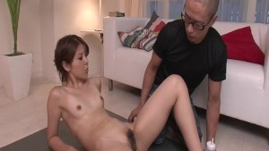 Rosa Kawashima removes panties for a good toy fuck