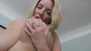Blonde Busty Maggie Green Gets off with Pink Toy!