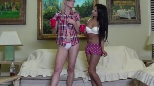 RealLesbianExposed - Zoey and Jasmine Having a Naughty Christmas