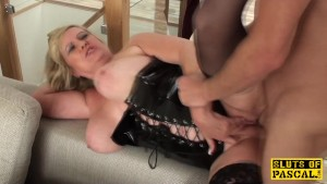 Chubby mature dominated over before mouthful