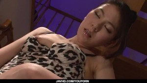 Lingerie model, Kei Akanishi, deals cock like a goddess