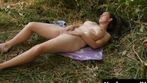 Tall Michelle Masturbating Outdoors