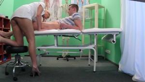 Fake Hospital Stud caught giving nurse a creampie