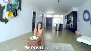 POVD - Petite beauty Shiloh Sharada strips down and fuck POV style