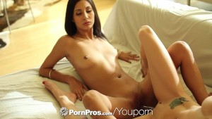 PornPros - Guy discovers there are benefits to living with two hot lesbians