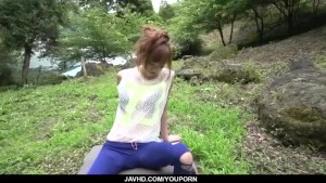 Top rated outdoor POV oral with kinky Mikuru Shiina