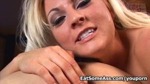 Sindy Lange eats raw ass sucks and fucks big cock for creamy cum