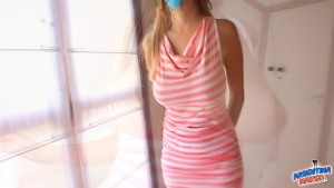 Huge Tits Blonde Teen! Amazing Hangers! And Puffy Pussy! OMG