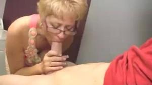Milf Starts Touching Young Man s Boner