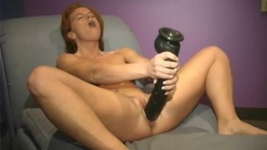 Two big brutal dildos for nympho