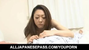 Ruri Hayami sucks stiffy and has hairy vagina licked and fucked