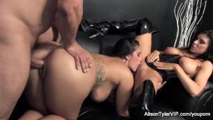 Alison Tyler 3-way