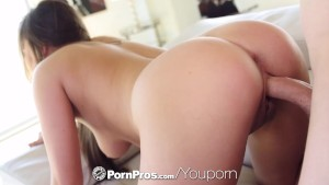 PornPros - Teal Conrad milks every inch of her man s cock with her throat