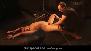 Dominated and many ways stimulated on the floor