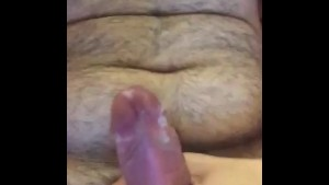 Sloppy jerking off