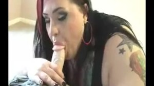 Sexy Neighbor Sucks And Slurps His Meaty Rod