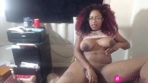 Sexy black babe Wettsunny with big tits and anal beads – 18flirt.com