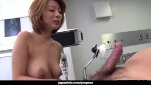 Astonishing Asian slut rides the cock on the floor