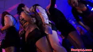 Party amateur cocksucking on the dancefloor