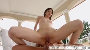 AssTraffic Betty Lynn masturbates while enjoying anal fucking